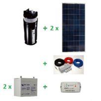 Ecolodis - Kit pompage solaire immergé Shurflo 9325 avec 2 batteries - 24V