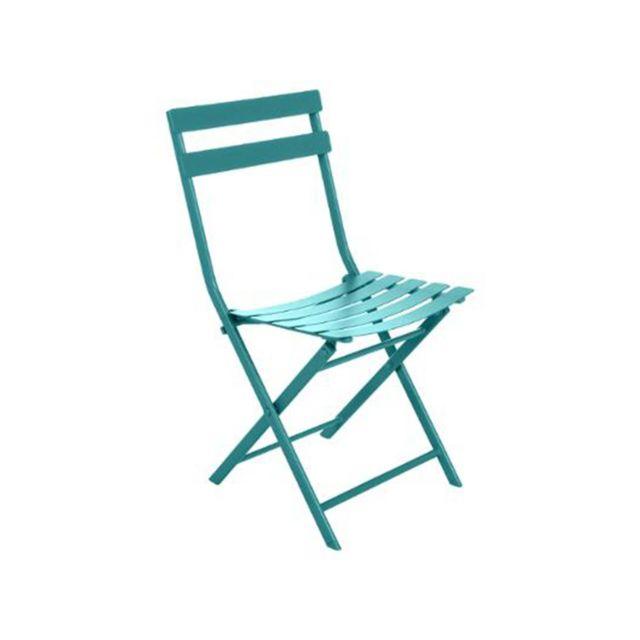 HESPERIDE - Chaise de jardin métal pliante Greensboro Emeraude 1