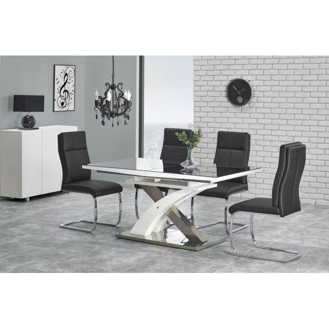 Carellia Table à manger design extensible 160÷220 cm x 90 cm x 75 cm