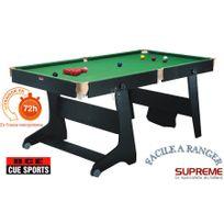 Billard Clifton 6ft Pool/Snooker Noir roulettes, + fléchettes