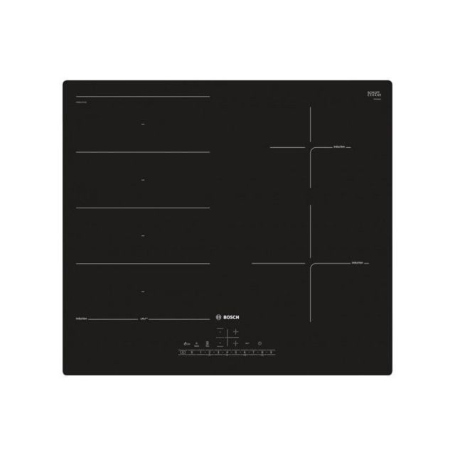 Bosch PXE611FC1E Plaque à induction - 4 foyer s Touches sensitives - Zone de cuisson modulable - Noir - 59.2 cm