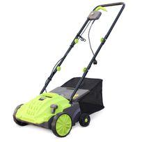 - Scarificateur électrique gazon VOLTR 1500W, 2en1 aérateur et démousseur pelouse, 2 rouleaux : couteaux et griffe entretien herbe