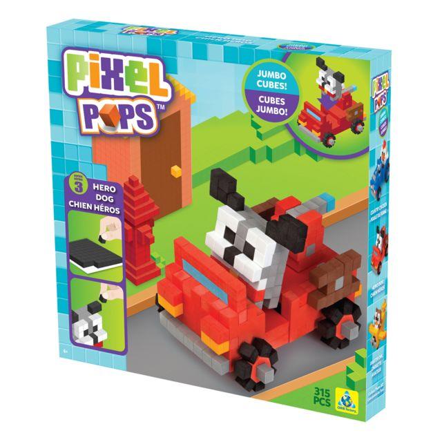 Orb Factory Loisirs créatifs : Pixel Pops : Coffret chien héros et base de jeu