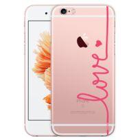 Evetane - Coque transparente Love rose pour Apple iPhone 6 et 6S