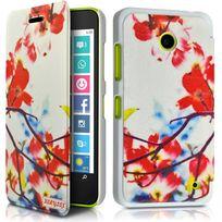 Karylax Coque Etui à rabat porte-carte motif Hf30 pour Nokia Lumia 630 + Film de protection Bz2PviD