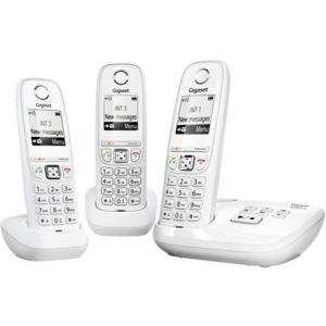 Gigaset t l phone r pondeur sans fil trio as405a blanc - Telephone fixe sans fil longue portee ...