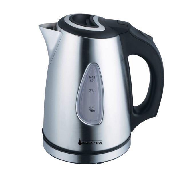 Blackpear Bouilloire en inox Black pear - 1100W Capacité 1L avec système anti-surchauffe - Bsf 1018
