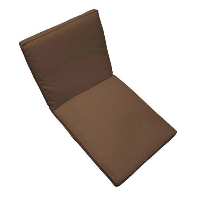 marque generique coussin de fauteuil de jardin chocolat. Black Bedroom Furniture Sets. Home Design Ideas