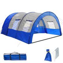 Tente pour 4 personnes en rouge ou bleu