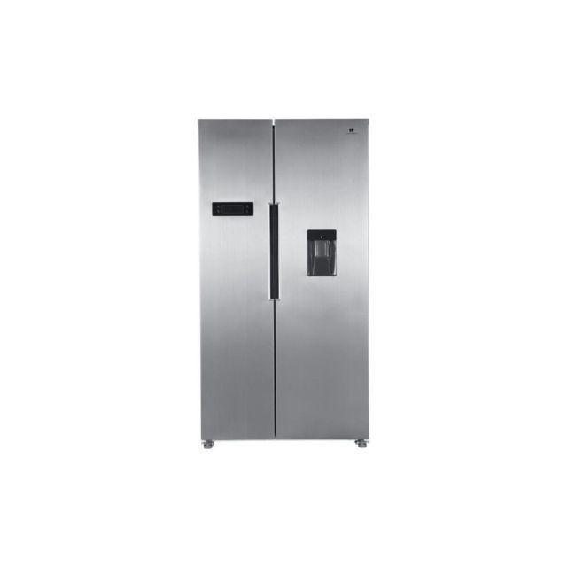 Continental Edison Refrigerateur Americain 433l 288l + 145l-total No Frost - Display Led-distributeur Deau - Profondeur 60 Cm