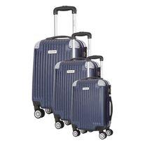 Travel One - Ensemble Set de 3 Valises - Tecapa - Système 360 + Roues silencieuses - Ultra light - Grande contenance - 254976