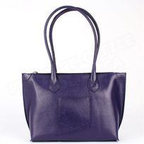 Volumica - Sac Cabas Shopping Marie cuir Violet Beaubourg