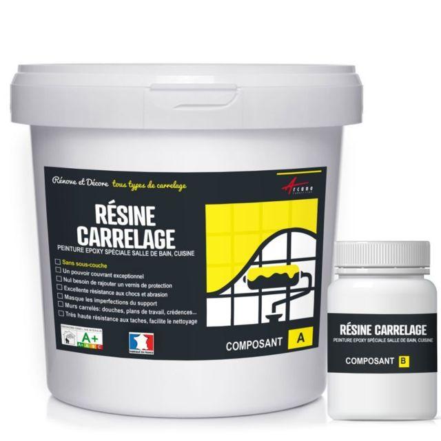 Arcane industries peinture pour carrelage cuisine salle - Peinture resine pour carrelage salle de bain ...