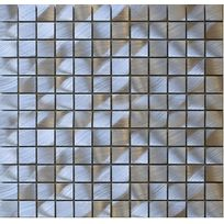 Carrelit - Plaque de mosaique Electra en Alu brossé