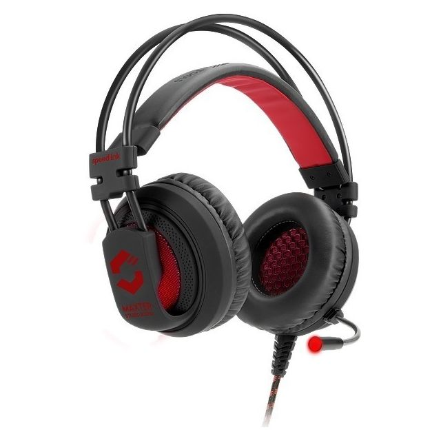 SPEEDLINK MAXTER Stereo Gaming Headset Profitez du son et de la basse stéréo étonnants exigés par les derniers jeux avec le casque de jeu stéréo Maxter pour la PlayStation 4®. Soyez du côté des vainqueurs dans les jeux de FPS et de course avec une qualité