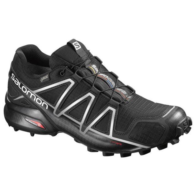 conception adroite nouveau style de vie sur les images de pieds de Salomon - Speedcross 4 Gtx Noire Chaussures trail étanche ...