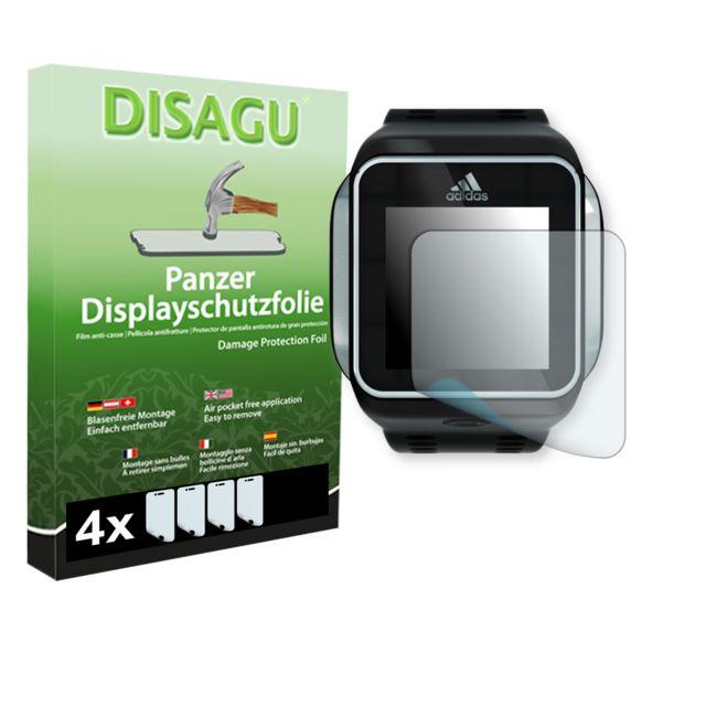 Disagu - Adidas miCoach Smart Run film de protection d'écran - 4 x Film blindé pour Adidas miCoach Smart Run film de protection contre la casse