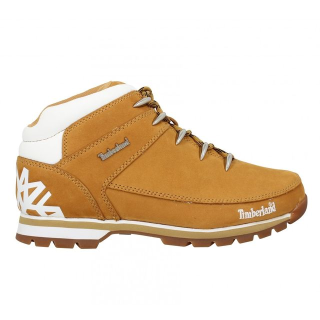 Timberland - Euro Sprint velours Homme-43,5-Ocre + Blanc Beige