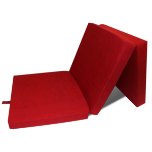 Rocambolesk - Superbe Matelas en mousse pliable rouge 190 x 70 x 9 cm Neuf