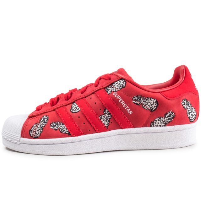Adidas originals - Superstar The Farm Company Rouge Femme ...
