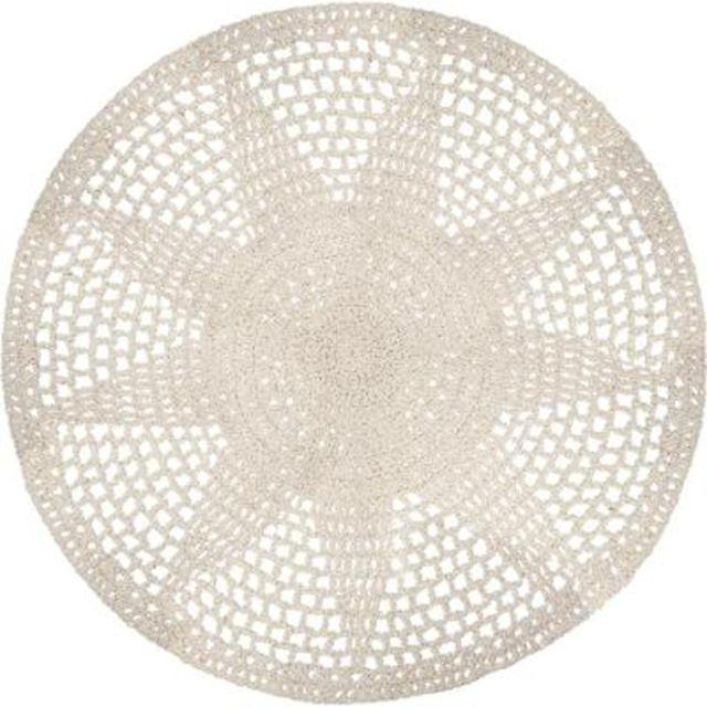 Paris Prix Tapis Rond En Coton Crochet 90cm Or Pas Cher Achat