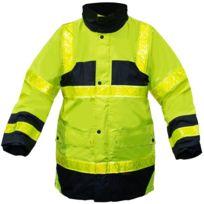 e6c01d4ad20b1 Page 1 / 3. T2S - Parka de securite Haute visibilite Veste jaune Xl  impermeable et anti froid