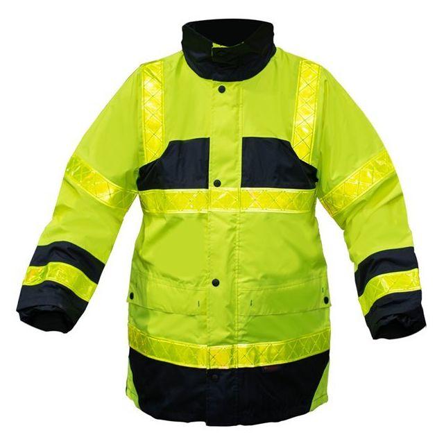 Veste Parka securite Travail haute visibilite Jaune Fluo bandes reflechissantes Xxl
