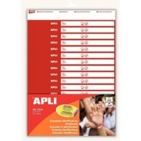 Apli - agipa - 12523 - etui de 32 bracelets d'identification - format 210x15mm