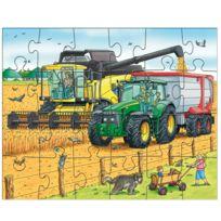 Haba - Puzzle 3 x 24 pièces : Tracteur & Cie