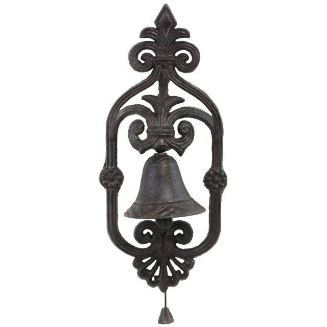 chemin de campagne cloche de porte portail murale en fonte de jardin pas cher achat vente. Black Bedroom Furniture Sets. Home Design Ideas