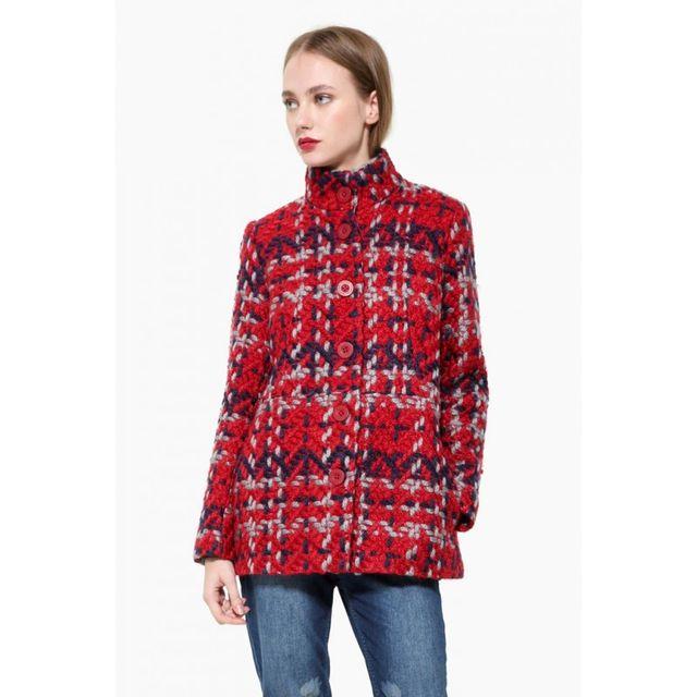 Desigual - Manteau Coat Borgona Rouge 17WWEWH9 - pas cher Achat   Vente  Blouson femme - RueDuCommerce 10f97f55b279