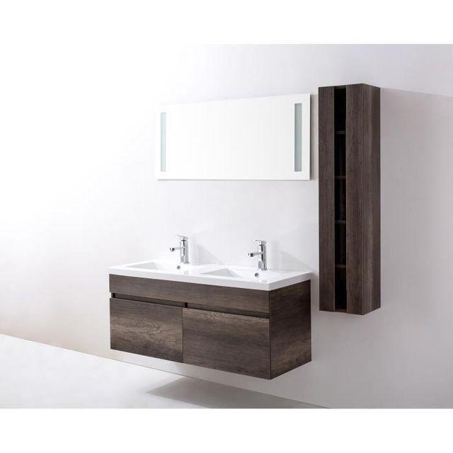 Aucune - Alban Salle de bain complete double vasque 120 cm ...