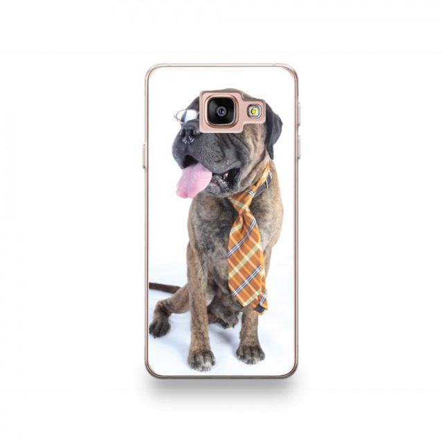 400f0fcff51613 Destination Telecom - Coque Samsung Galaxy A3 2016 motif Chien À Lunettes