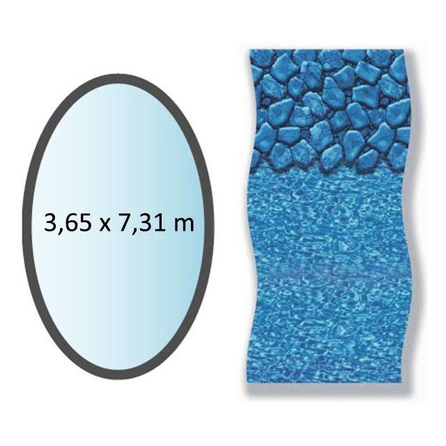 SWIMLINE - liner boulder forme ovale 3.65x7.31m pour piscine hors sol - li1224sbo