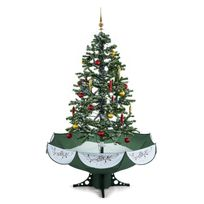 Oneconcept - Everwhite Sapin de Noël Simulation chute de neige 180cm Led -vert