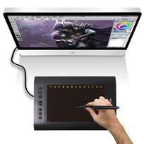 Yonis - Tablette graphique digitale 12 pouces dessin 3D stylet sans fil noir