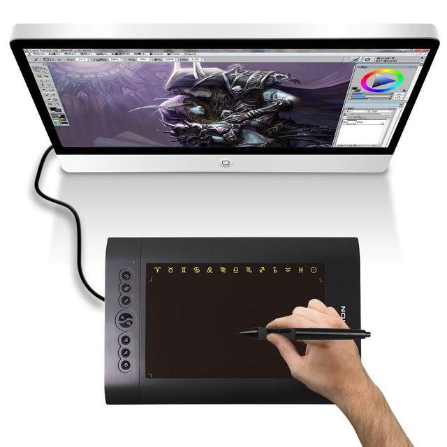 Yonis Tablette graphique digitale 12 pouces dessin 3D stylet sans fil noir