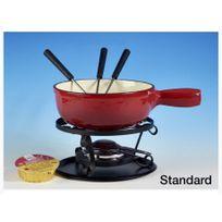 TABLE&COOK - service à fondue standard rouge - standard 10p