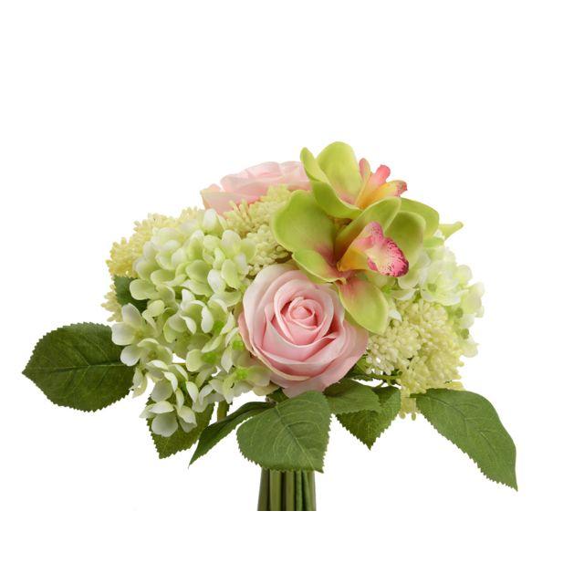 Bouquet de Fleurs artificielles Chantilly Rose