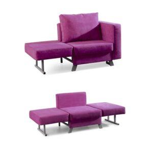 meubler design fauteuil convertible solo tissu rose pas cher achat vente fauteuils. Black Bedroom Furniture Sets. Home Design Ideas
