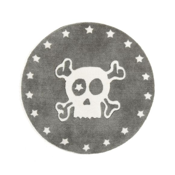 alin a jack tapis rond d60cm motif t te de mort pour enfant pas cher achat vente tapis. Black Bedroom Furniture Sets. Home Design Ideas