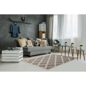 allotapis tapis style scandinave taupe effet 3d amber pas cher achat vente tapis. Black Bedroom Furniture Sets. Home Design Ideas