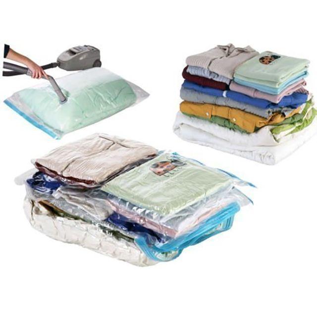 touslescadeaux 4 sacs housses de rangement sous vide d 39 air 70 gain de place 2 large 2. Black Bedroom Furniture Sets. Home Design Ideas