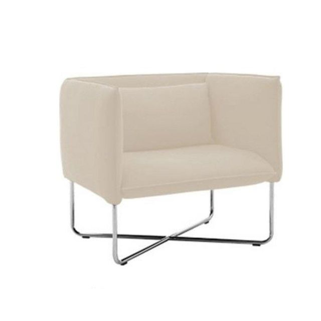 Inside 75 Fauteuil Groove en tissu taupe clair Softline