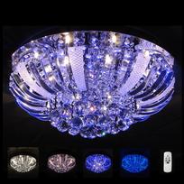 Kosilum - Lustre Plafonnier cristal Led Las Vegas 60 cm