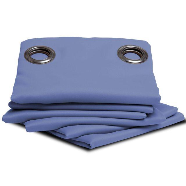 moondream rideau thermique occultant uni bleu lobelia pas cher achat vente rideaux. Black Bedroom Furniture Sets. Home Design Ideas