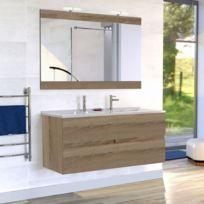 creazur meuble salle de bain double vasque rosaly 120 bois cambrian