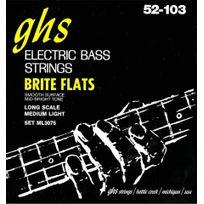 Ghs - 3075ML Brite Flats - Jeu de cordes Medium Light guitare basse 52-103 Long Scale
