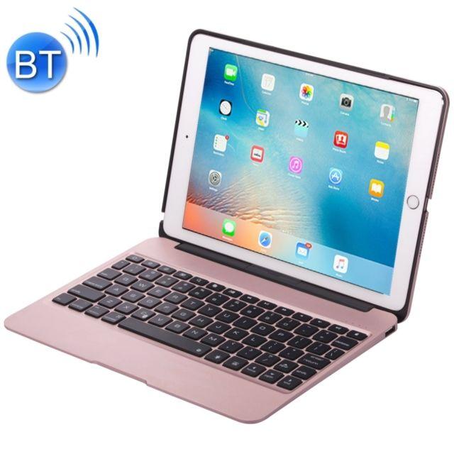 better recognized brands limited guantity Clavier QWERTY or rose pour iPad Pro 12,9 pouces portable pliable en  alliage d'aluminium sans fil Bluetooth rétro-éclairage F07