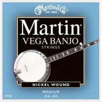 Martin - V730 Cordes pour Banjo 5 cordes medium .010023
